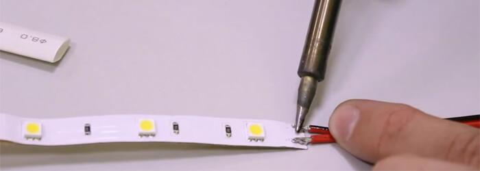 пайка LED-ленты