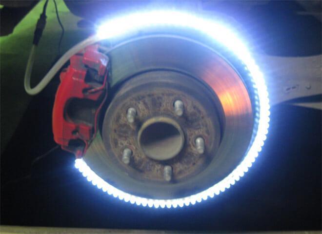 LED подсветка колеса