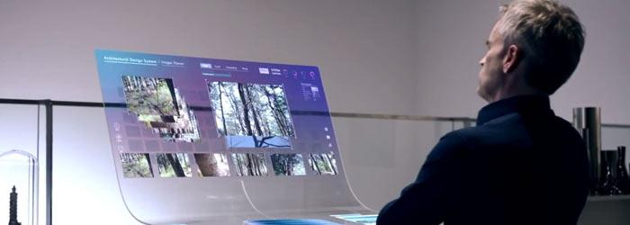 компьютер с OLED монитором