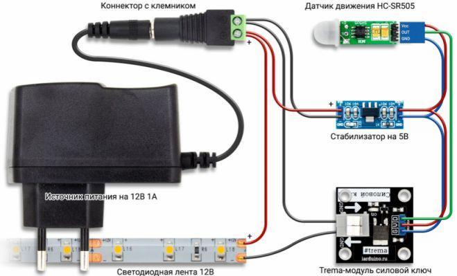 Эл.схема контроллера светодиодов