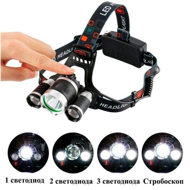 Налобный светодиодный фонарь Boruit HL-003-T6-1