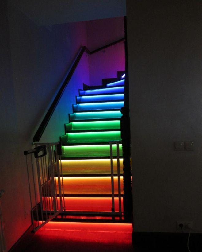 Автоматическая подсветка ступеней