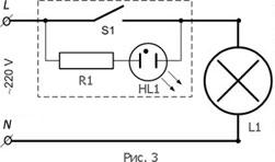 схема подсветки с неоновой лампой